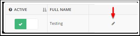 4. También puede editar sus usuarios haciendo clic en el icono de lápiz en la página Usuarios