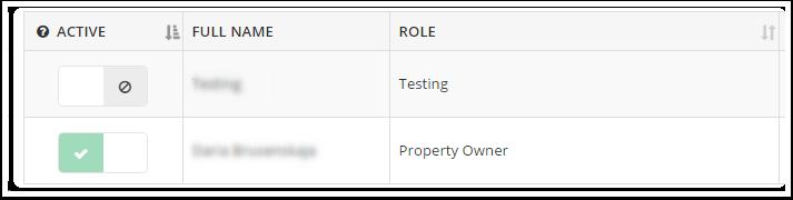 5. También puede desactivar el usuario creado: la única excepción a esto es la cuenta del propietario, que no se puede deshabilitar.