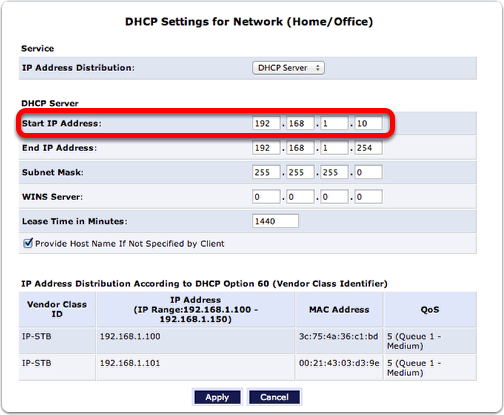 How to assign ip address