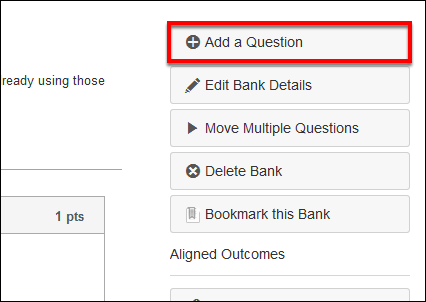 Screenshot of the Add a Question button.