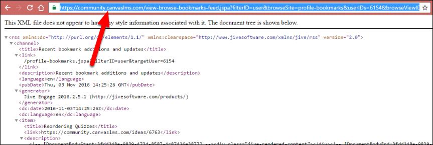Screenshot of copying the URL.