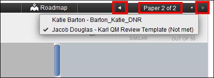 Screenshot of the arrow buttons.