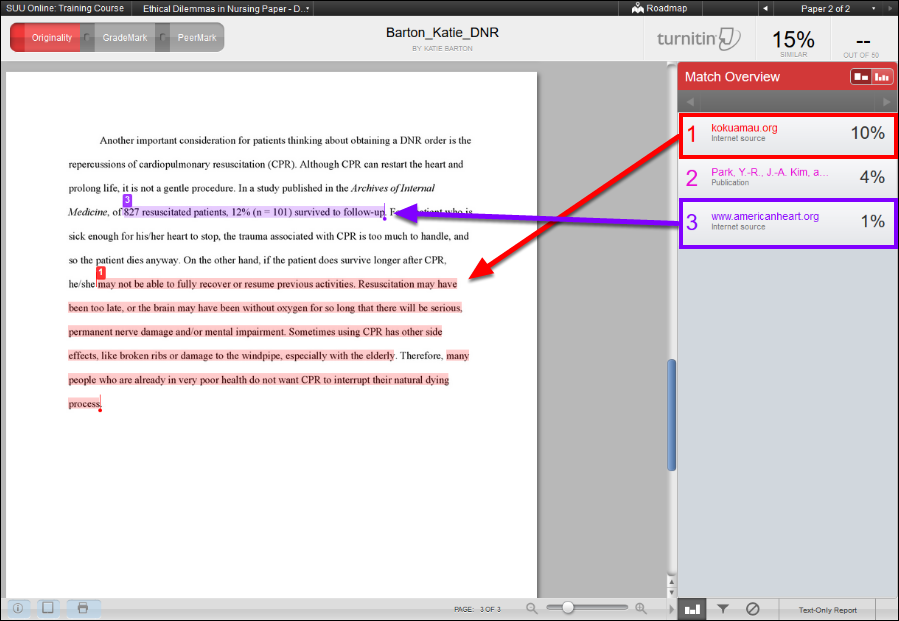 Screenshot of the highlighted text.