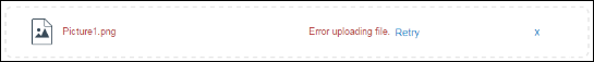 Screenshot of the error.