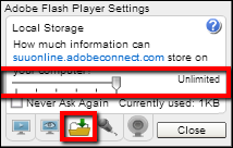 Screenshot of the folder tab.