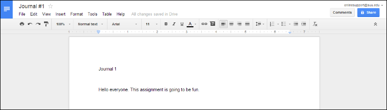 Screenshot of a Google Doc.