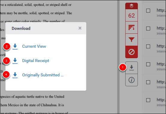 Screenshot of the Download menu.