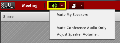 Screencast of the speaker button.