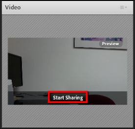 Screenshot of the Start Sharing button.