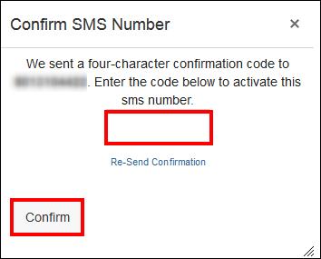 Screenshot of the confirmation window.