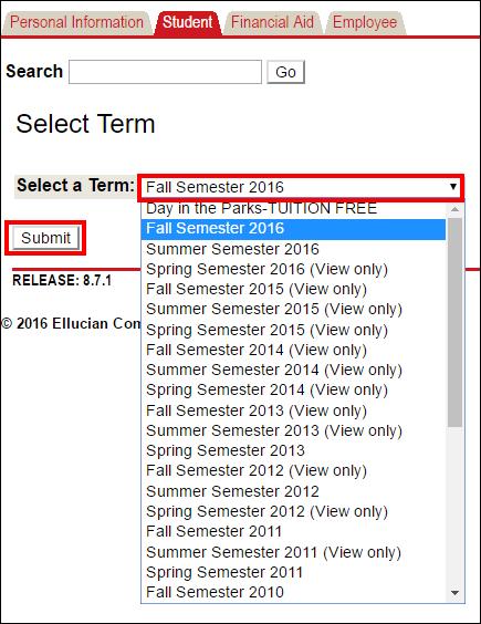 Screenshot of selecting the term.