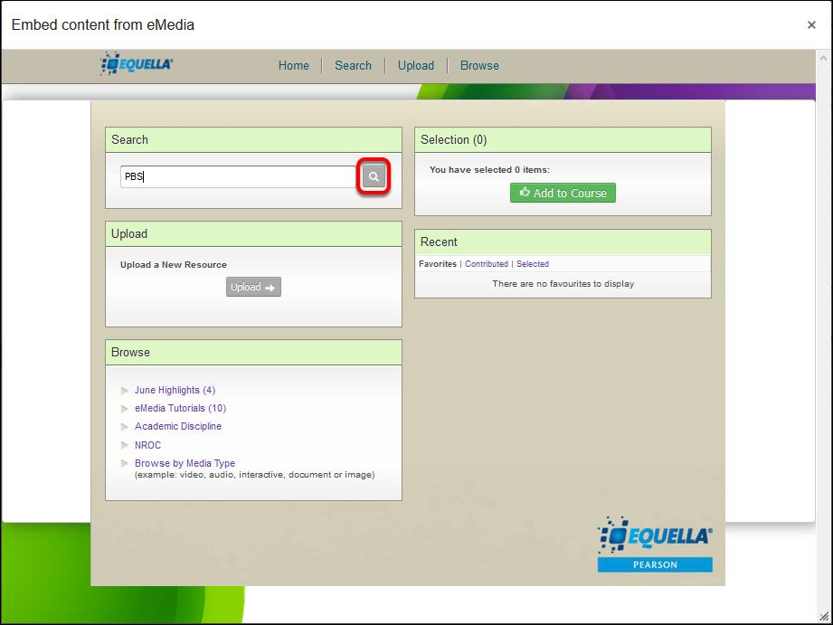 screenshot of media tool