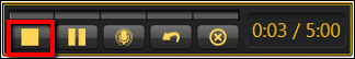 Screenshot of the Stop button.