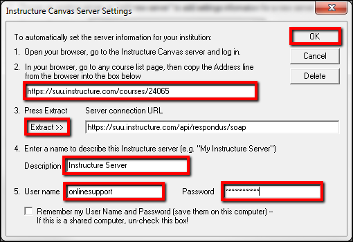 Screenshot of the Server Settings window.