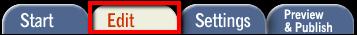 Screenshot of the Edit tab.