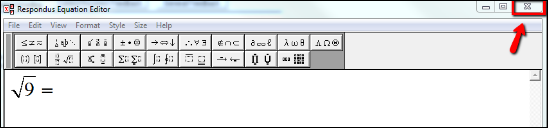 Screenshot of the X.