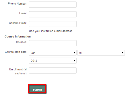 Screenshot of the Submit button.