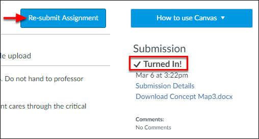 Screenshot of the checkmark.