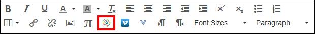 Screenshot of the Kaltura icon.