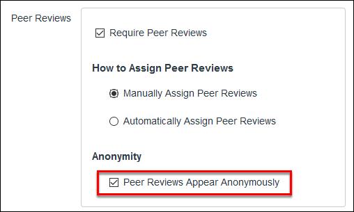 Screenshot of anonymous peer reviews.