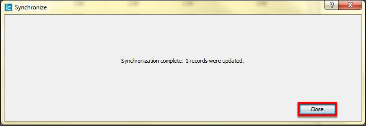 Screenshot of the Close button.