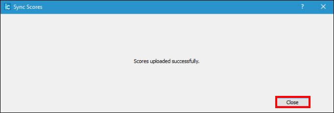 Screenshot of the progress window.