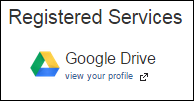 Screenshot of the Registered Services section.