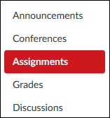 Screenshot of the Assignments tool.