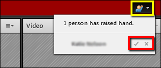 Screenshot of the status button.