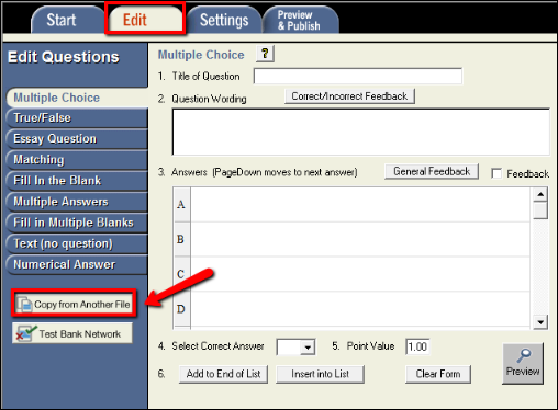 Screenshot of the Copy from Another File button.