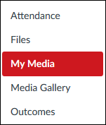 Screenshot of the My Media tool.