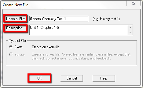 Screenshot of naming the file.