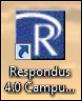 Screenshot of the Respondus shortcut.