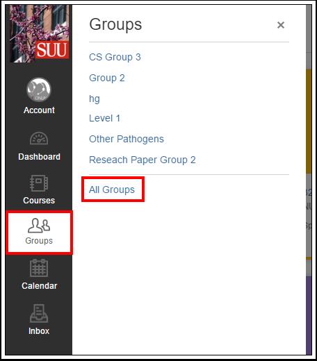 Screenshot of the Groups list.