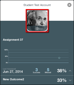 Screenshot of the student's picture.