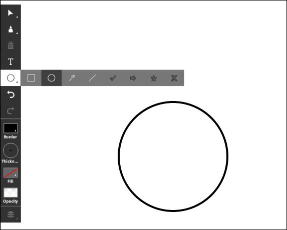 Screenshot of the shape tool.