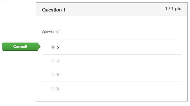 Screenshot of a correct question.