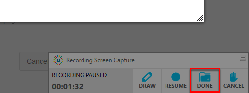 Screenshot of the Done button.
