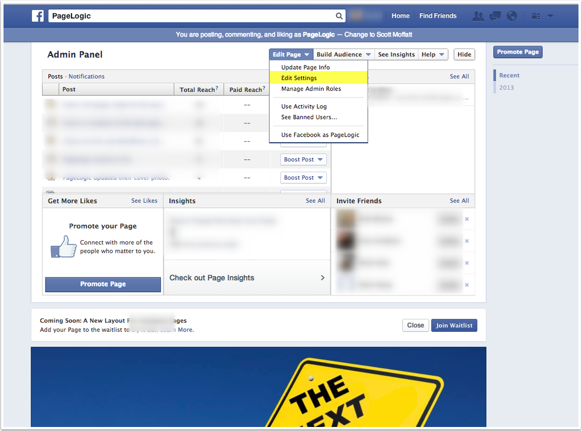 Access a Facebook business page without a login