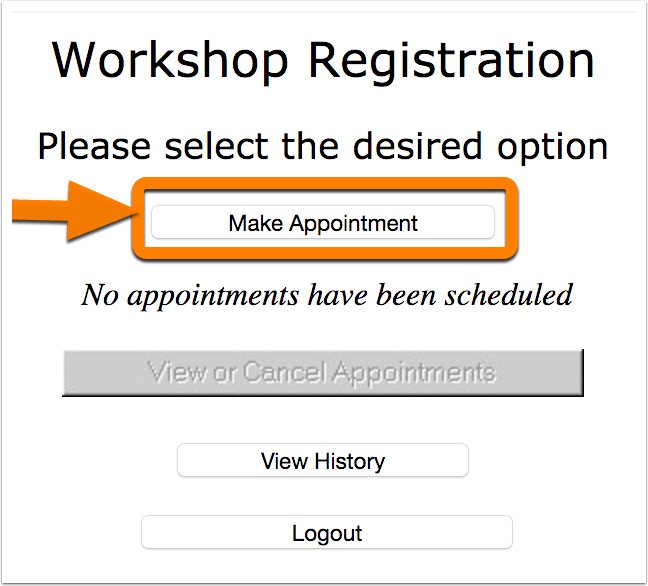 """3. Click on """"Make Appointment."""""""