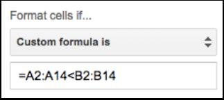 Add the custom formula