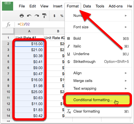 Step 6 - Conditional Formatting