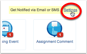 Setting up email notifications