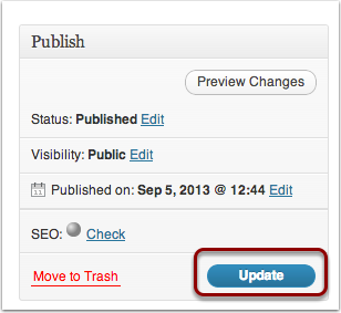 Publishing Your Page: