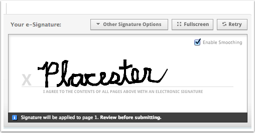 Drawing your Signature