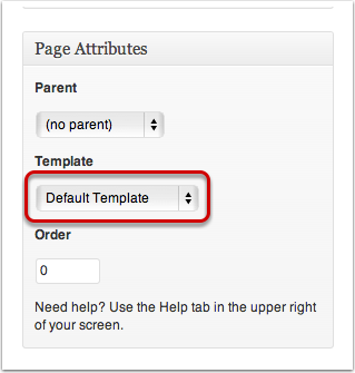 Choosing a Page Template