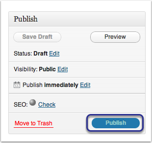 Step 6: Select Publish, to activate your page