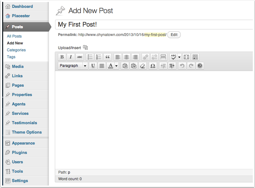 Adding Your First Blog Post