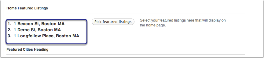 Picking Featured Listings