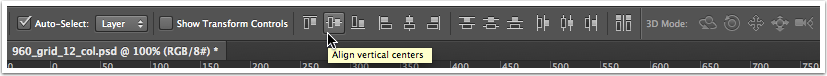 Click on the Alignment Toolbar